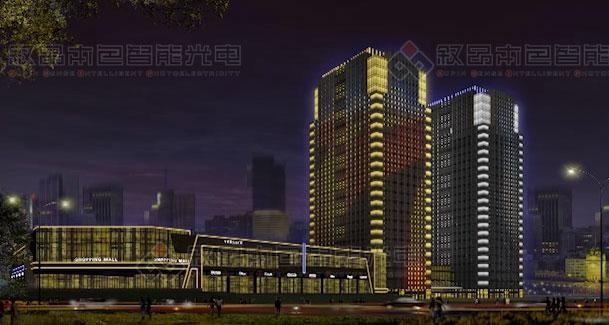 乌鲁木齐福建大厦LED亮化工程(正在施工图片
