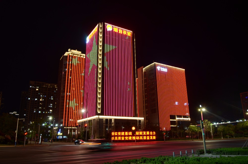 城市景观照明-烟台市高新区建筑景观照明设计方案图片