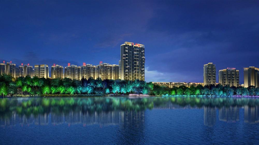 城市景观照明-黄山市新安江中心城区段照明规划设计图片