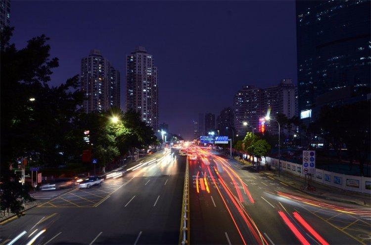 """城市景观照明-深圳""""金三角""""金融商业核心区照明工程图片"""