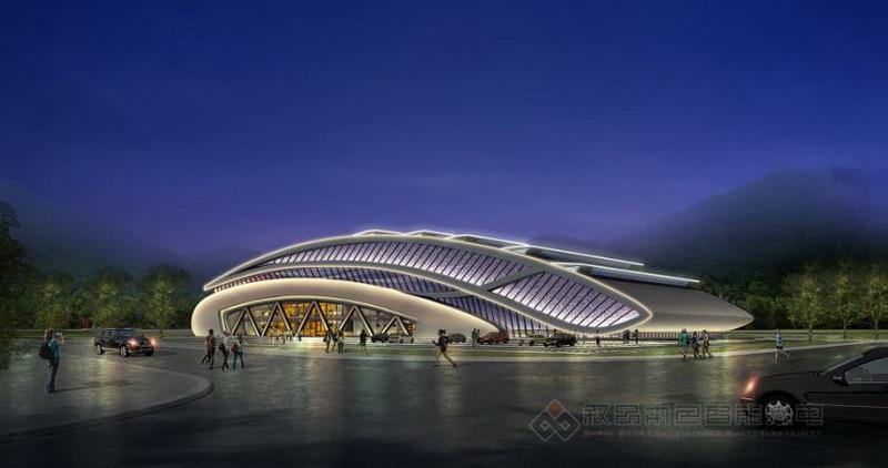 新源县体育馆泛光照明设计施工