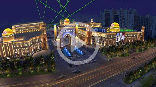 新疆叙品本色智能光电—新疆丝路之光亮化设计方案演示图片