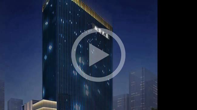 新疆叙品本色智能光电微商大厦亮化工程图片
